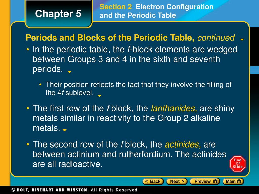 Sublevels periodic table images periodic table images chapter 5 preview lesson starter objectives ppt download 18 periodic gamestrikefo images gamestrikefo Image collections