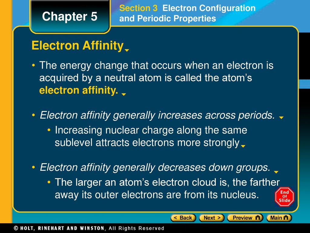 Across a period in the periodic table ionization energy generally chapter 5 preview lesson starter objectives ppt download 26 periods gamestrikefo images gamestrikefo Images