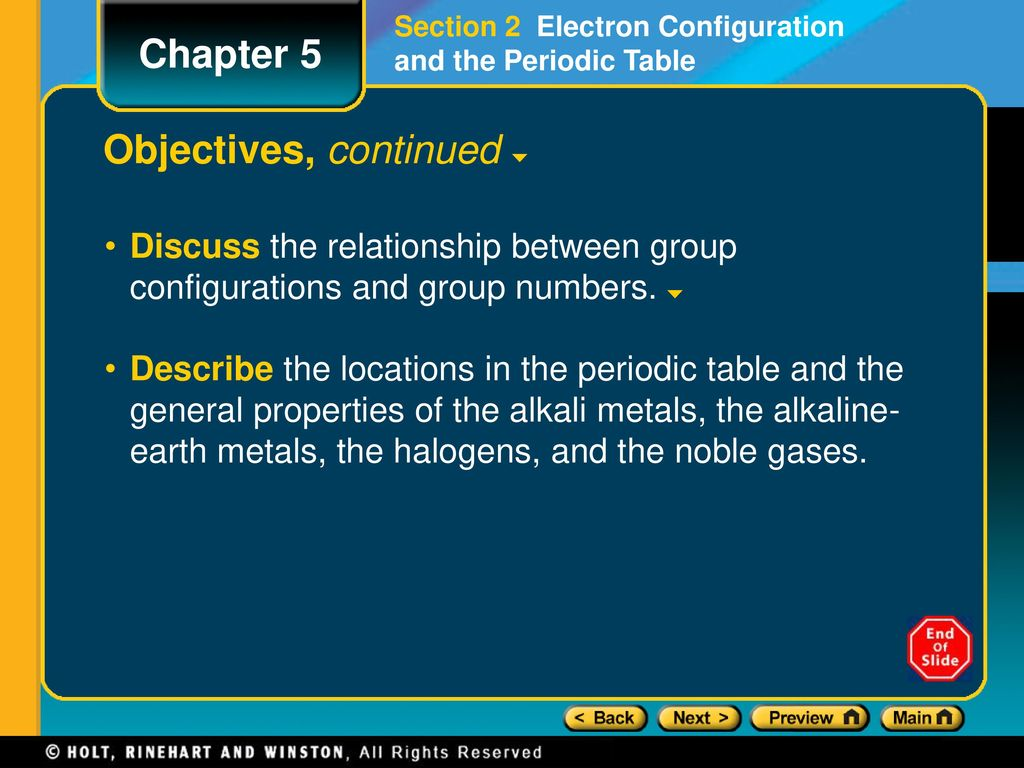 Chapter 5 preview lesson starter objectives ppt download the modern periodic table gamestrikefo Image collections