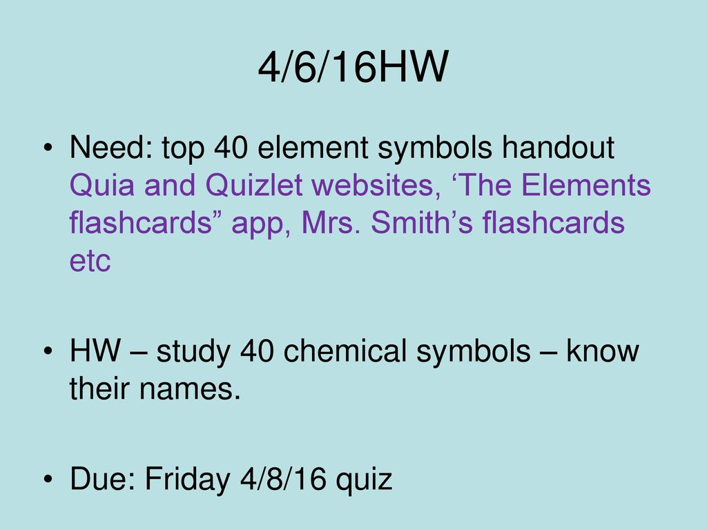 44 how did mendeleev order his periodic table ppt download 4616hw need top 40 element symbols handout quia and quizlet websites urtaz Image collections