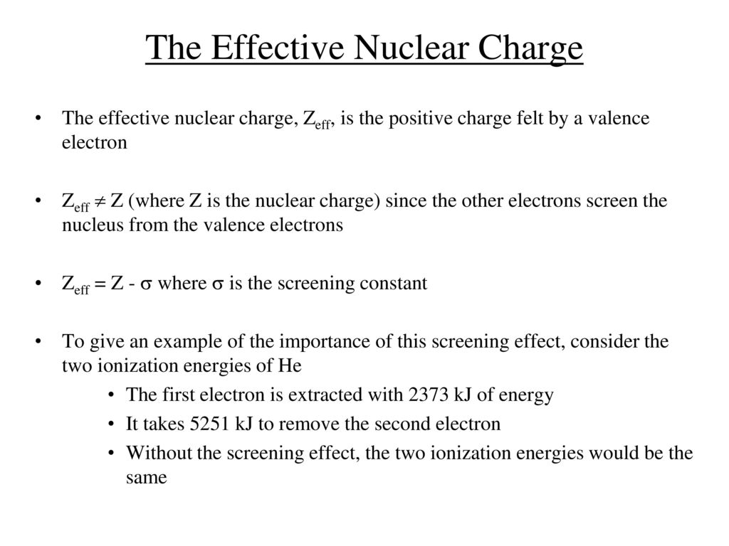 Periodic table and its charges choice image periodic table images the periodic table ppt download the effective nuclear charge gamestrikefo choice image gamestrikefo Choice Image