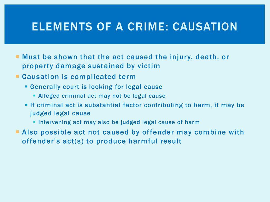 criminal factors essay