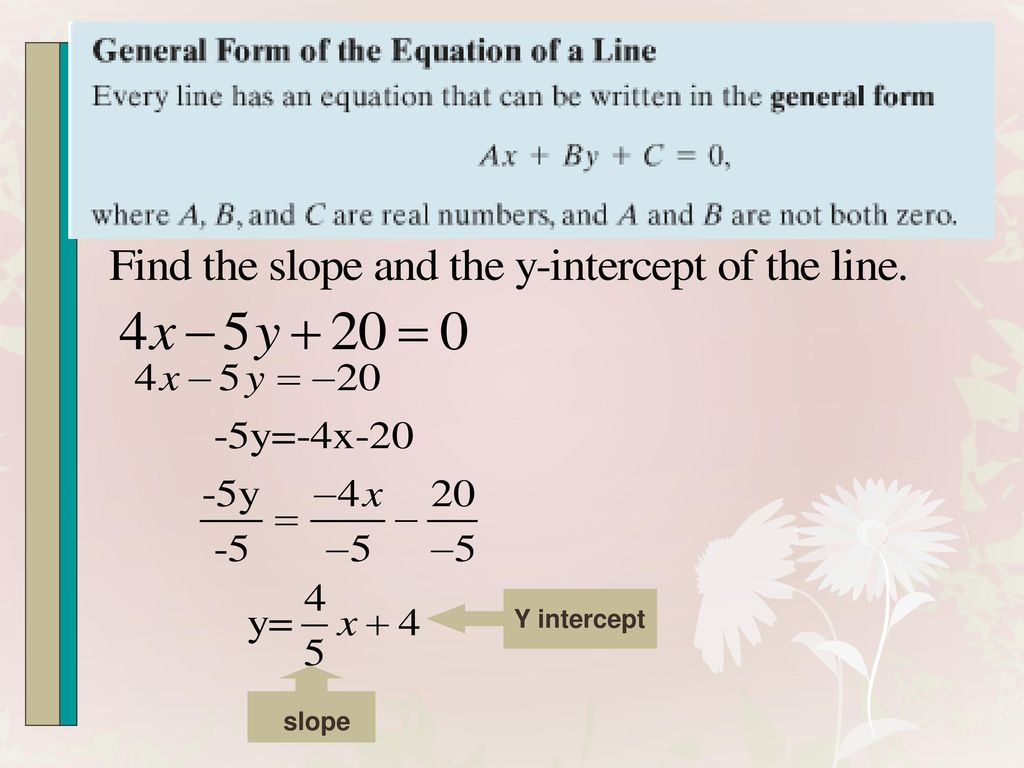 Can every line be written in slope intercept form image collections section 14 linear functions and slope ppt video online download 22 y intercept slope falaconquin falaconquin