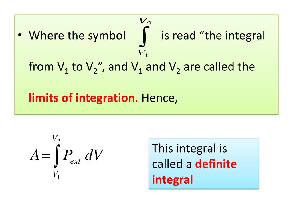 Integral calculus by suwardi ppt video online download where the symbol is read the integral from v1 to v2 and v1 and v2 biocorpaavc Image collections