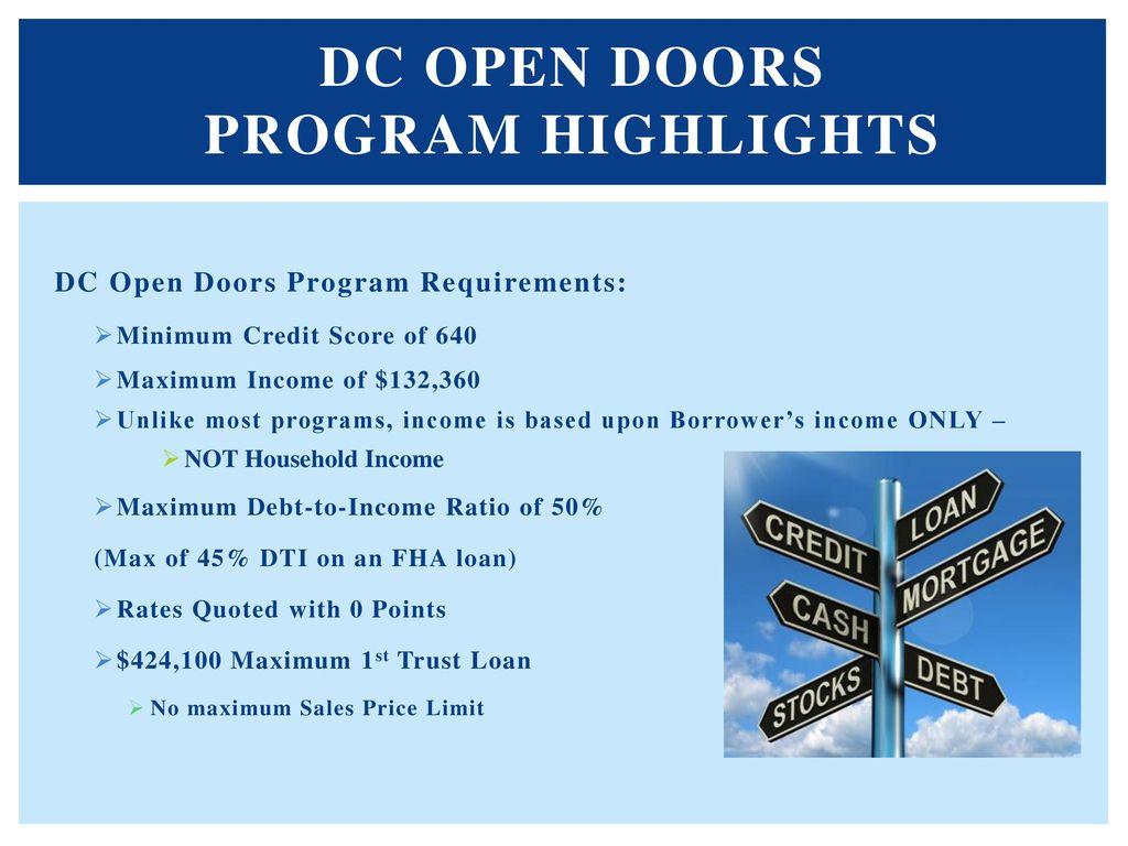 DC Open Doors Program Highlights