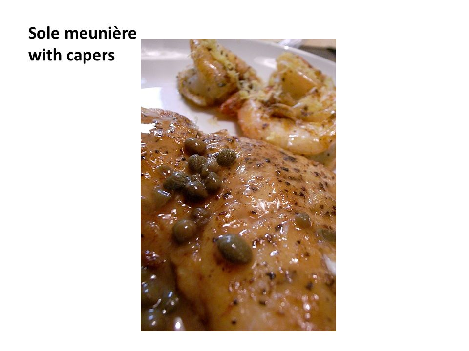 Sole meunière with capers