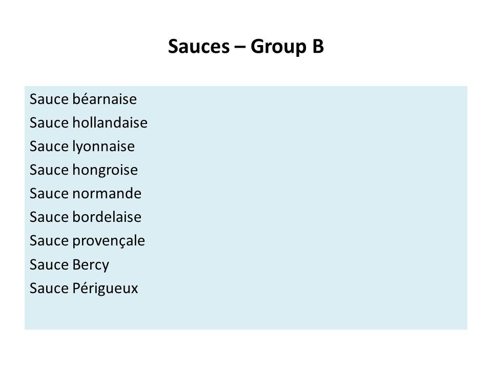 Sauces – Group B