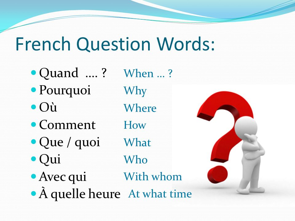 French Question Words: