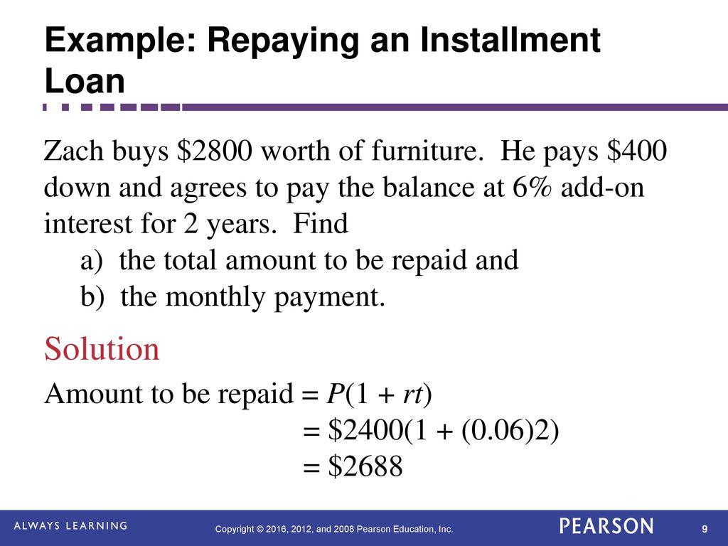 $2,400 Installment Loans
