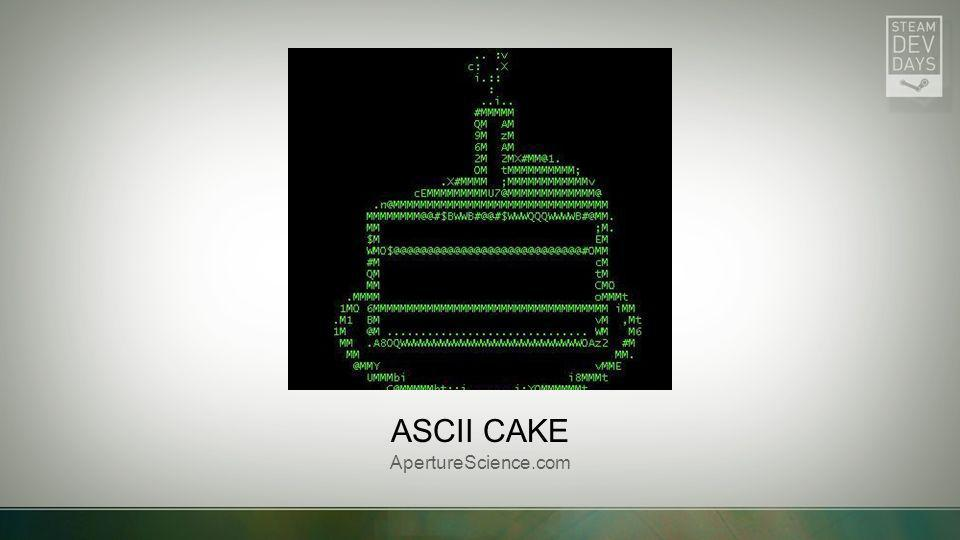 Ascii cake ApertureScience.com Picture with caption