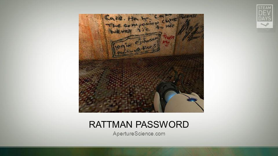 Rattman password ApertureScience.com Picture with caption