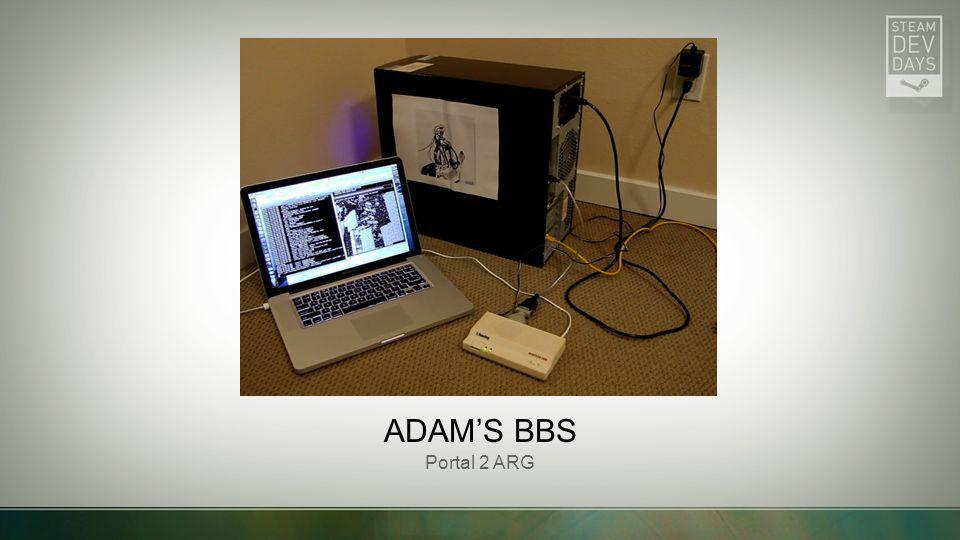 Adam's BBS Portal 2 ARG BBS at Adam's house