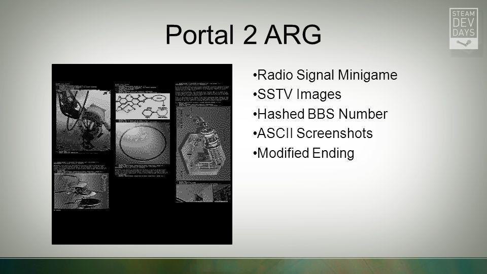 Portal 2 ARG Radio Signal Minigame SSTV Images Hashed BBS Number