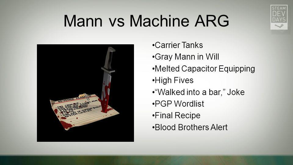 Mann vs Machine ARG Carrier Tanks Gray Mann in Will