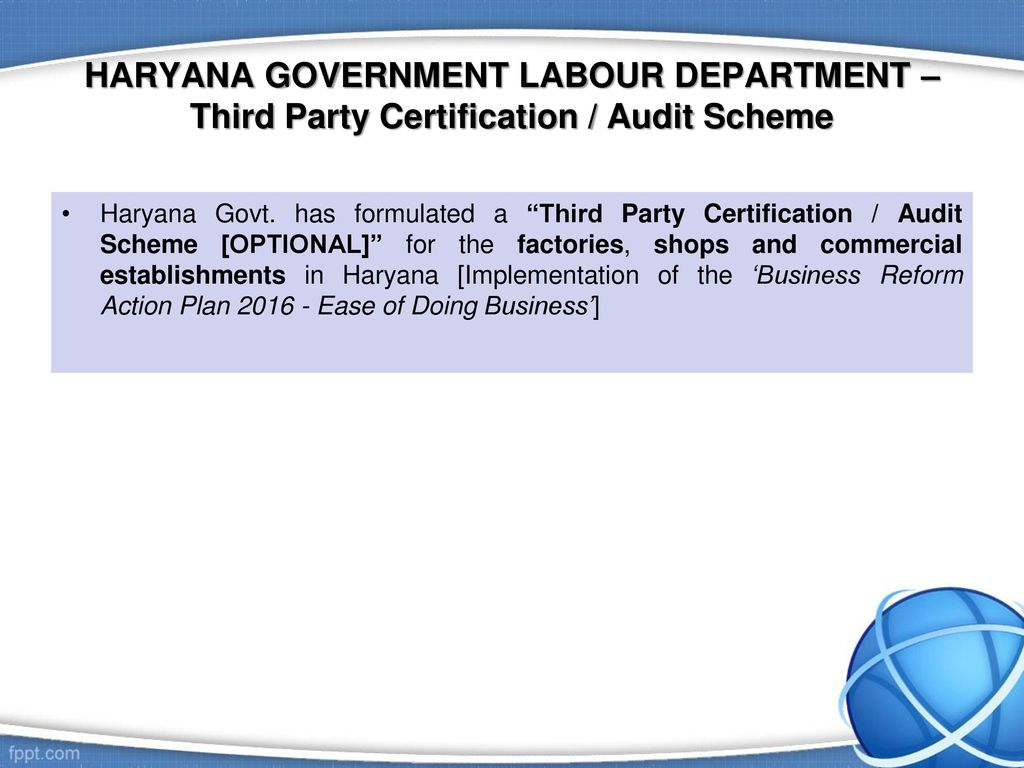 Labour laws compliance management professional perspective ppt haryana government labour department third party certification audit scheme 1betcityfo Choice Image