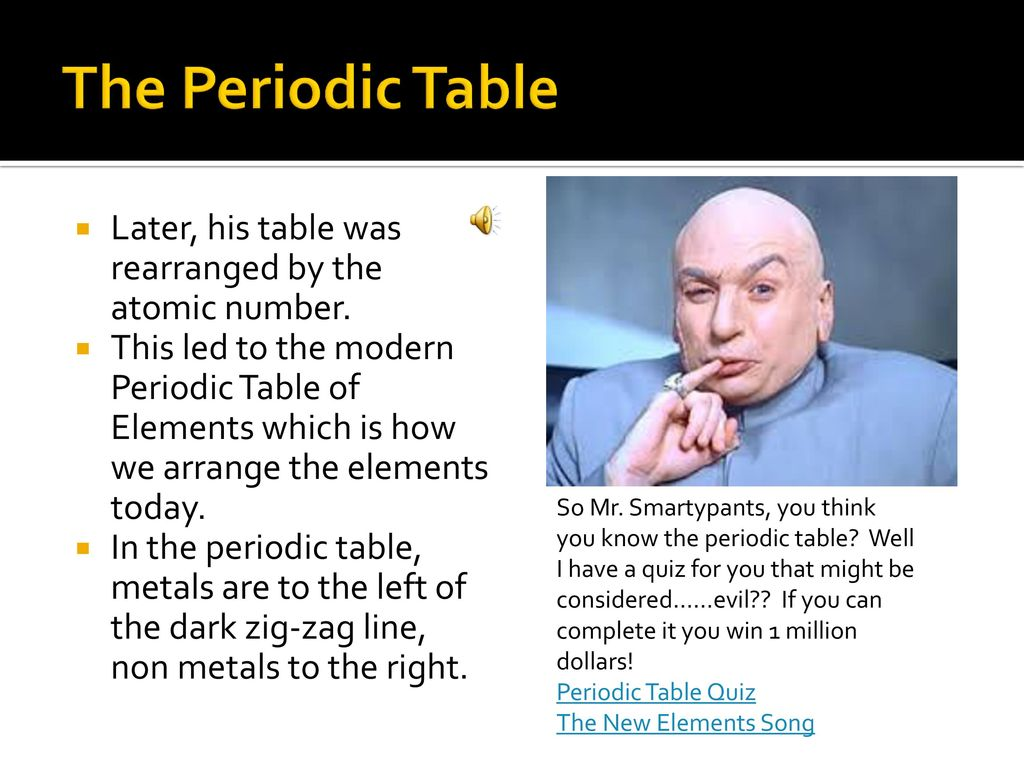 Rearranged the periodic table by atomic number gallery periodic unit e chapter 1 lesson 2 pgs e14 e19 ppt download the periodic table later his urtaz Gallery