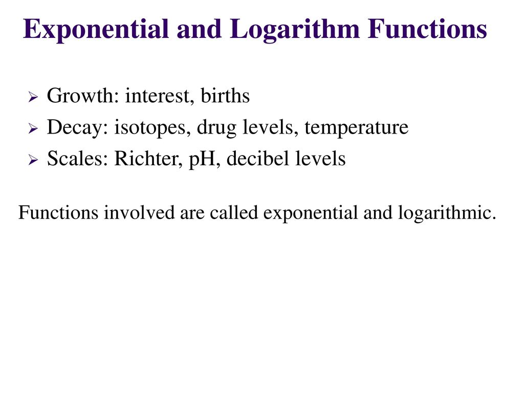 Worksheets Logarithmic Functions Worksheet exponential and logarithm functions ppt video online download functions