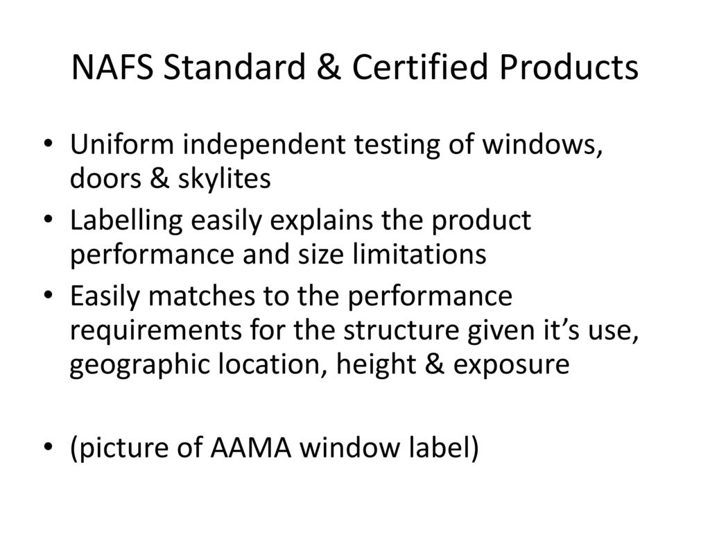 Vinyl windows doors for commercial applications ppt video nafs standard certified products 1betcityfo Image collections