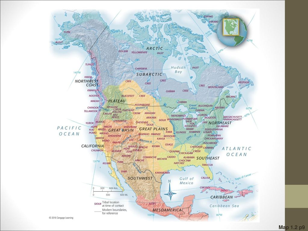 Map 1.2 North American Indian Peoples at the Time of First Contact with Europeans Because
