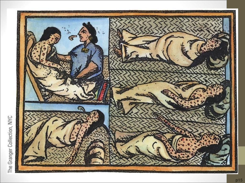 The Scourge of Smallpox These scenes of Aztec Indians