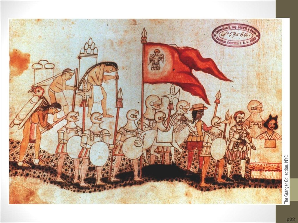 Arrival of Cortés, with Dona Marina, at Tenochtitlán in 1519 This painting by a