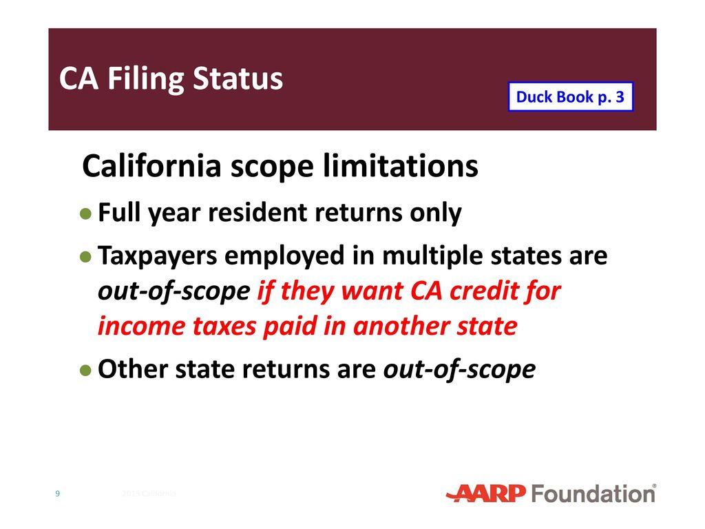 California supplement to 2016 nttc training slides ppt download ca filing basics if using federal f 1310 statement of person claiming refund due a deceased falaconquin