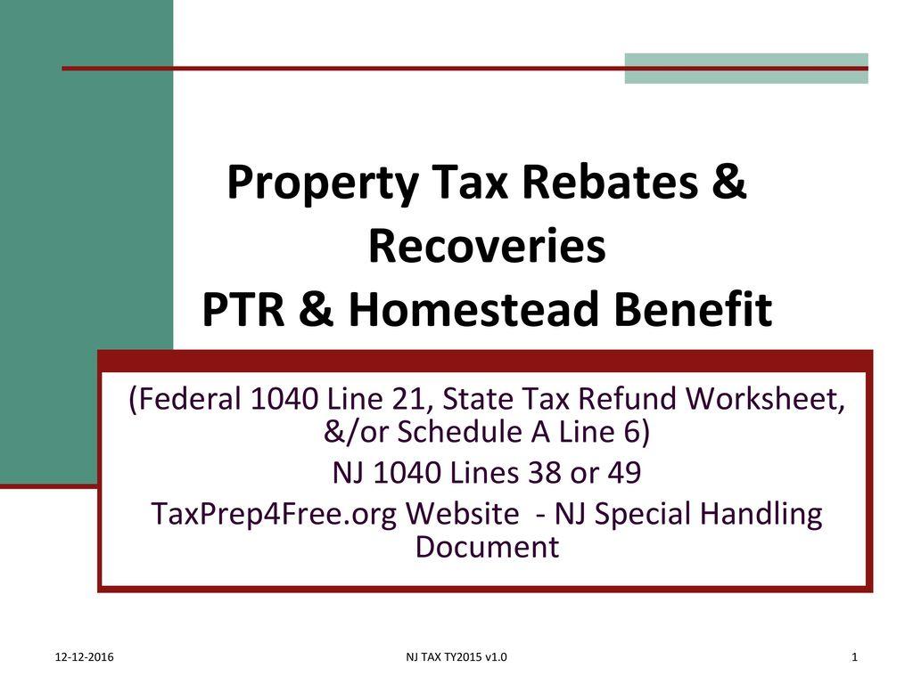 Nj Property Tax Reimbursement