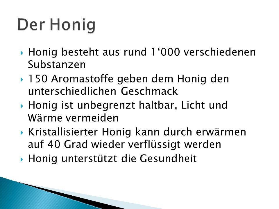 Der Honig Honig besteht aus rund 1'000 verschiedenen Substanzen