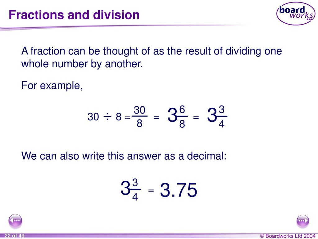 Ks3 mathematics n5 using fractions ppt download 22 fractions and division biocorpaavc Gallery