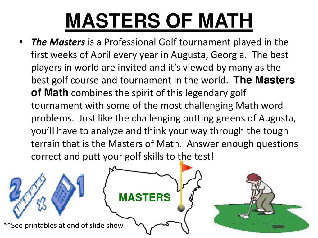 Magnificent Math Masters Inspiration - Math Worksheets - modopol.com