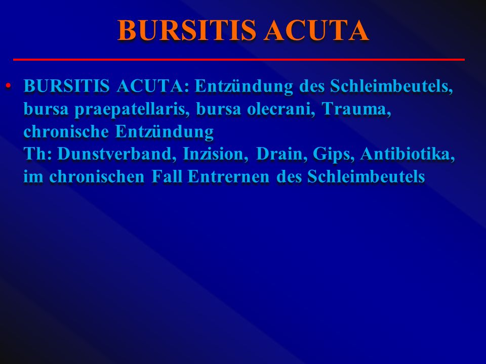BURSITIS ACUTA