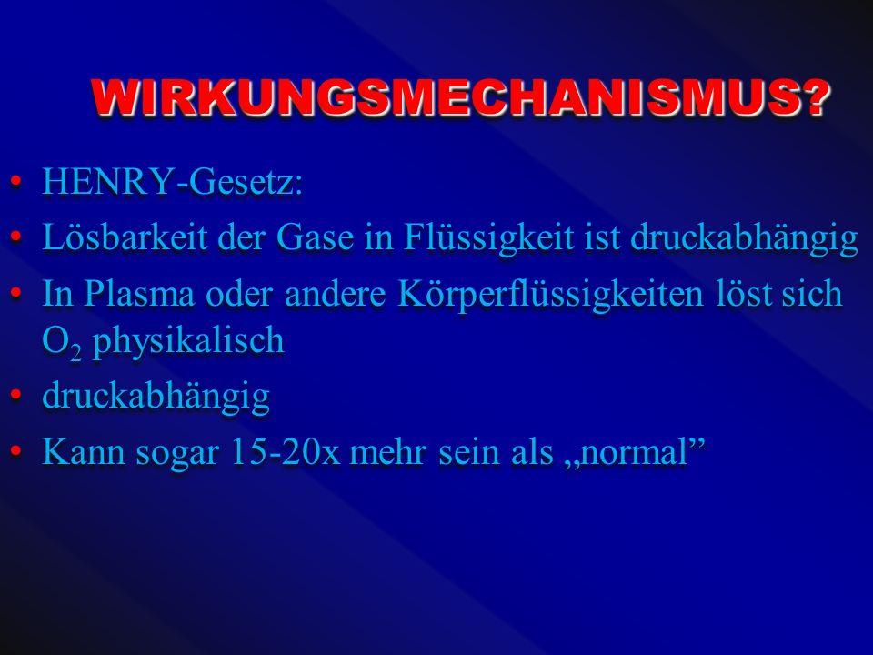 WIRKUNGSMECHANISMUS HENRY-Gesetz: