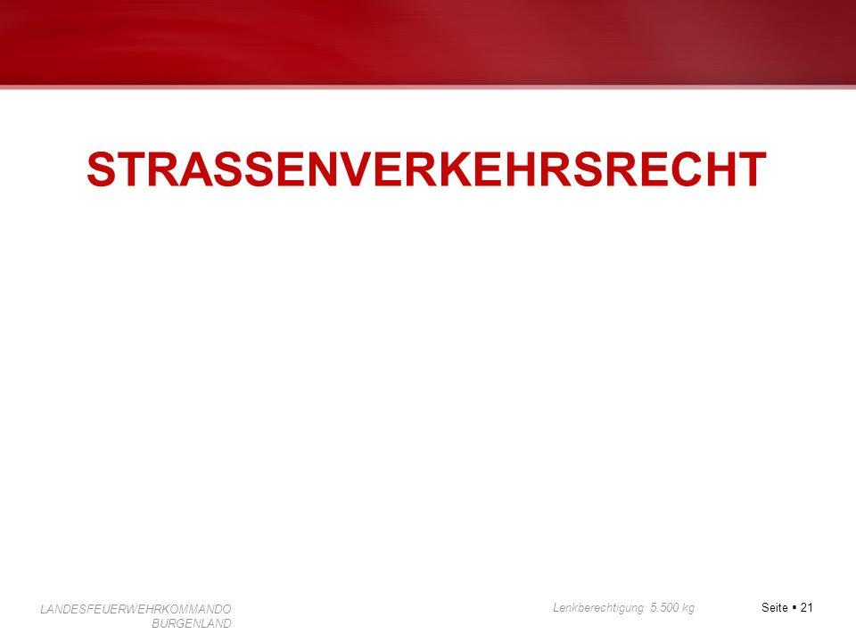 STRASSENVERKEHRSRECHT