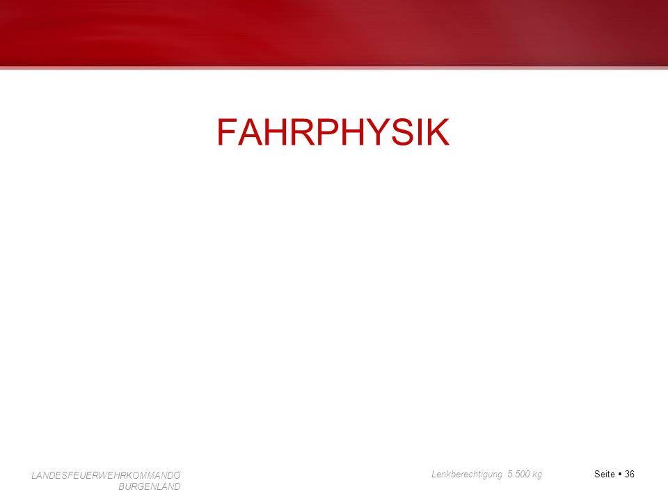 FAHRPHYSIK