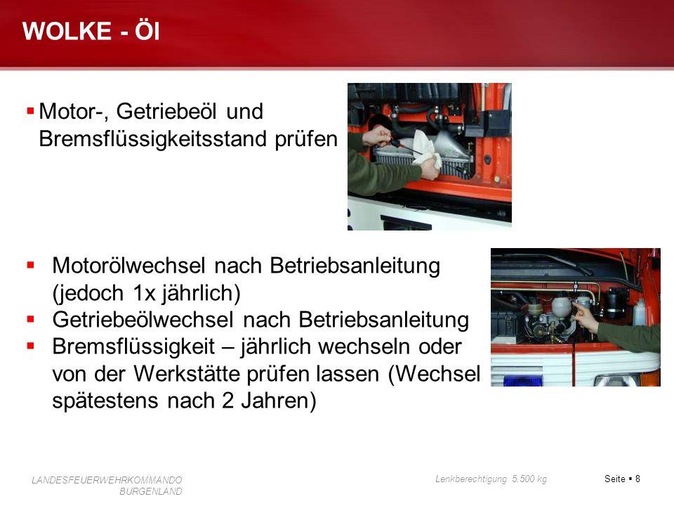 WOLKE - Öl Motor-, Getriebeöl und Bremsflüssigkeitsstand prüfen