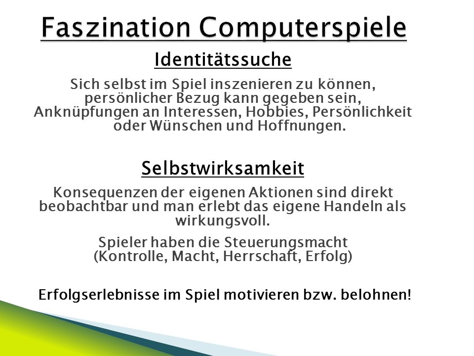 Faszination Computerspiele