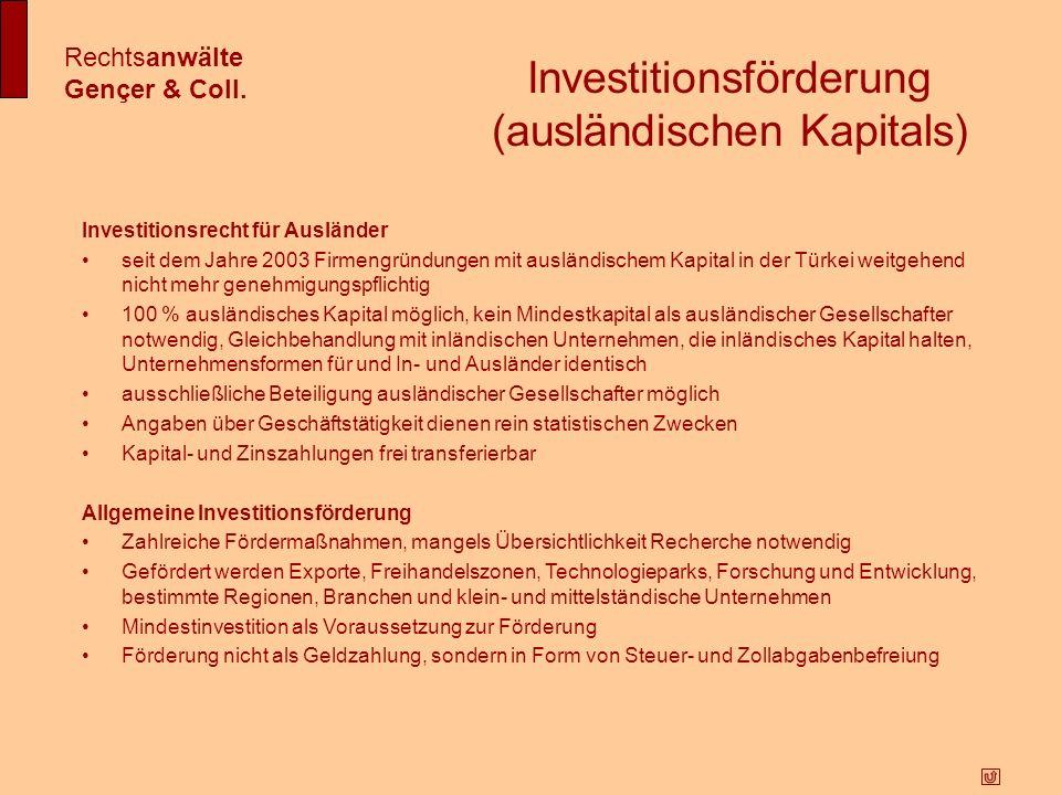 Investitionsförderung (ausländischen Kapitals)