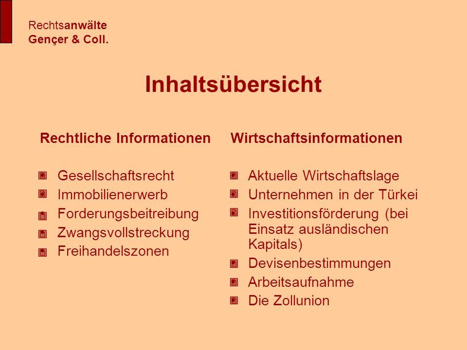 Inhaltsübersicht Rechtliche Informationen Gesellschaftsrecht