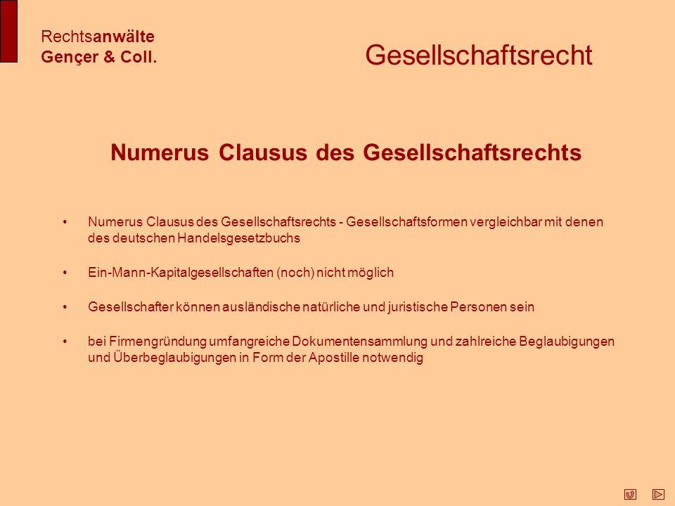 Numerus Clausus des Gesellschaftsrechts