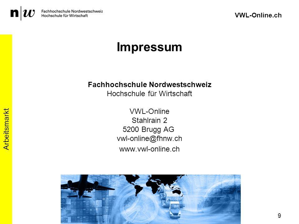 VWL-Online.ch Impressum