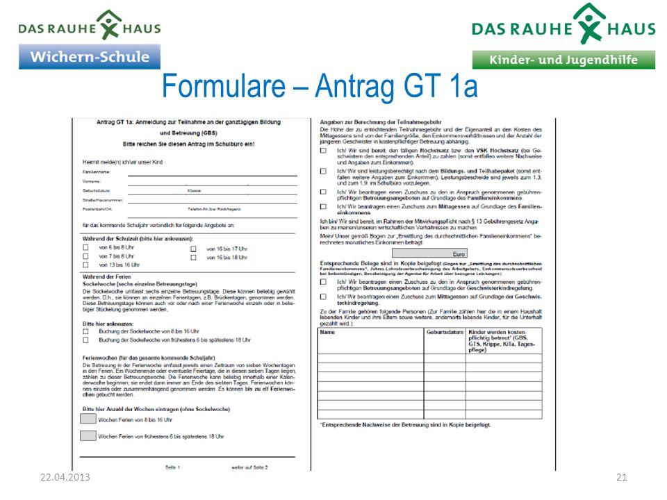 Formulare – Antrag GT 1a 22.04.2013