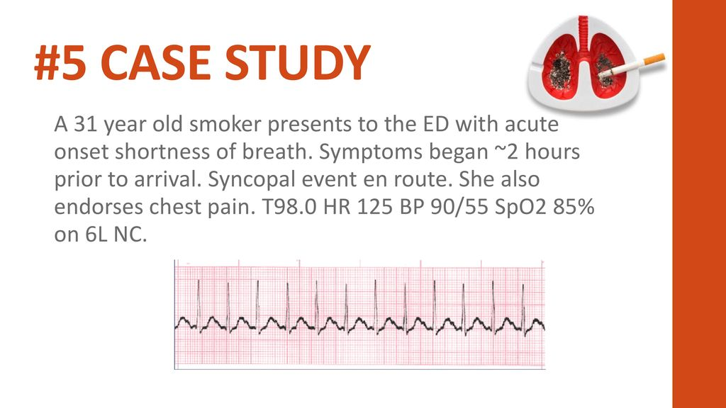 case study patient with shortness of breath After two weeks of therapy, the patient felt much better that he decided to  discontinue his treatment several weeks later, though, the dyspnea, cough and  fever.