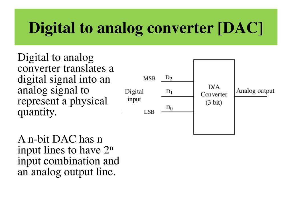 Digital to analog converter [DAC]