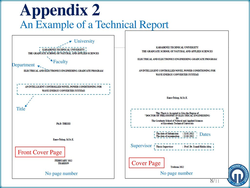 how to add an appendix to a report