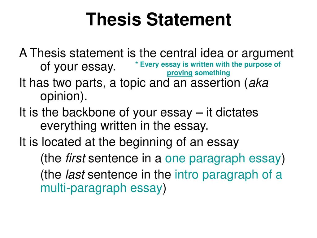 thesis statement has three parts The three-story thesis  tension by setting parts of their argument in opposition to one another,  three story thesis statement doc.