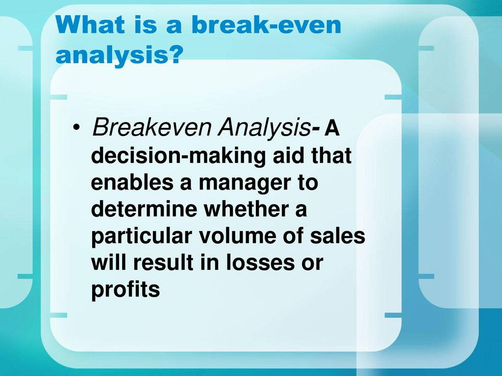 breakeven theory Theory of production and cost, break-even analysis 1 sarvajanik college of engineering and technology subject: management project by: kumar.