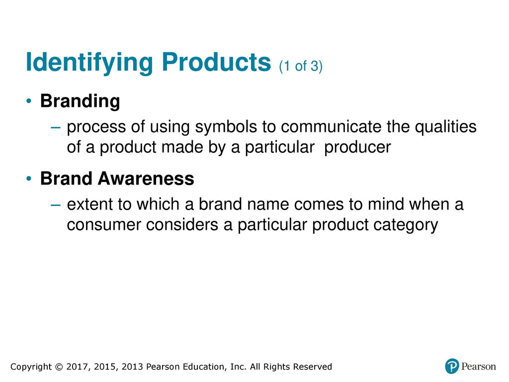 Developing and pricing products ppt download 22 identifying products 1 of 3 branding process of using symbols to communicate biocorpaavc Choice Image