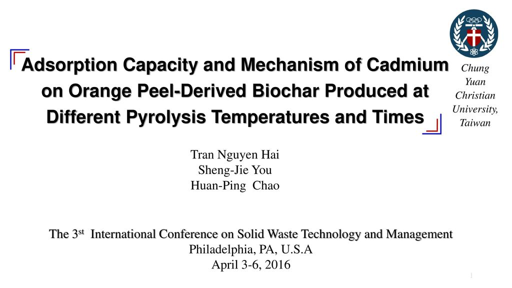 Adsorption Capacity and Mechanism of Cadmium on Orange Peel-Derived Biochar Produced at Different Pyrolysis Temperatures and Times