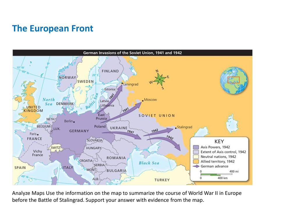 World war ii lesson 4 a war on two fronts ppt download 10 the european front analyze maps gumiabroncs Images