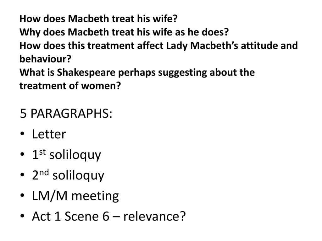 What is the purpose of Macbeth's letter to his wife? (Act 1, scene v)